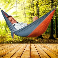 Wholesale Camping Outdoor Recreation - Outdoor Portable Hammock 2 Persons Recreation Camping Barbecue Picnic Double Person Camping Garden Leisure Travel Hammocks