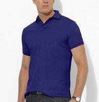 camiseta hombre pony al por mayor-Camisa de manga corta de los hombres 100% de algodón camisa casual de la camiseta de los hombres camisas de golf camisas masculinas PONY envío gratis