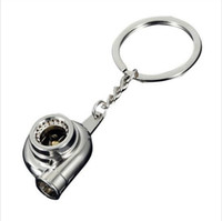 Wholesale Craft Keyrings - Hot Metal auto parts turbine simulation crafts With keyrings small pendant Keychain with Zinc Alloys