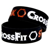 "Wholesale Crossfit Silicone - 50PCS Lot CrossFit Steampunk Silicone Wristbands Bracelet 1"" Wide Band, Perfect To Use In Any Benefits Gift"