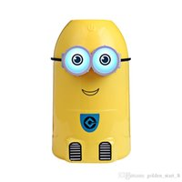 Wholesale Pc Keyboard Types - 30 PCS  lot Mini Minions Air Humidifier for Car and Home Using Diffuser with LED night Mist maker