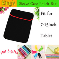 """Wholesale Sleeve Inner Wholesale - Wholesale-Universal PU inner sleeve for tablet pc laptop, 7"""",8"""",9.7"""",10.1""""12''13''14'' inch mid case & bag & shell & cover+3 gifts"""