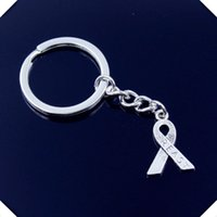 Wholesale Breast Cancer Key Chains - new-fashion-men-30mm-keychain-DIY-metal-holder-chain-vintage-cancer-breast-awareness-ribbon-23-16mm key rings