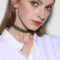 Wholesale Lace Choker Necklace Black Beads - Best quality gift lace up multicolor varity flowers shape choker collar pretty velvet choker necklace without beads CN002