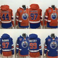 e0330b82c Mens Edmonton Oilers Jerseys 29 Leon Draisaitl 99 Wayne Gretzky 97 Connor  McDavid 44 Zack Kassian Hoodies Jerseys Sweatshirts