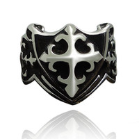 Wholesale Wolf Band Ring - 6 Design Male Punk Rings Dragon Skull Wolf Cross Claw Pattern Metal Knuckle Antique Ring For Friendship Bijoux Biker Anillos