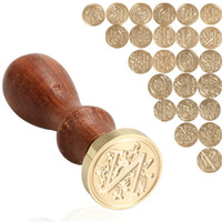 Wholesale alphabet letter wax stamp resale online - Retro Wood Classic Letter A Z Alphabet Initial Wedding Sealing Wax Seal Stamp Post Decorative Craft Gifts