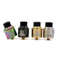 Wholesale E Cigarette Atomizer Tips - Apocalypse GEN 2 RDA Clone Atomizers With Wide Bore Drip Tip 24mm PEEK Insulators 4 Colors Fit 510 E Cigarette Vape DHL free