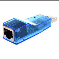 Wholesale ide external - Wholesale- External USB Ethernet RJ45 network Lan Card Adapter 10 100 Mbps for Laptop PC Blue
