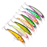 neue minnow köder großhandel-Neue 8-farbige 11 cm 13,4 g Hartplastikköder Angelhaken 3D Minnow Fischköder 4 # Haken Künstliche Pesca Angelzubehör