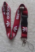Wholesale lanyard neck chains - Hot! 10pcs Dark Red Lanyard ID Badge Key Holder chain iPod Camera Neck Strap Detachable