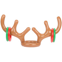 Wholesale Kids Reindeer Antlers - Inflatable Reindeer Antler Hat For Children Christmas Toy Headwear Cap Accessories Party Articles Kid Gift 5 94zb C R