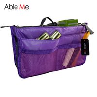 Wholesale Travel Bag Cosmetic Containers - Wholesale- AbleMe Multifunction Cosmetic Bag Storage Case Holder Zipper Portable Travel Make Up Storage Bag Organizer Cosmetics Container