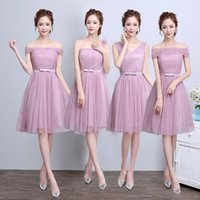 Wholesale Plus Size Clothing Wedding Party - 5 colors 4 patterns plus size Women wedding clothes Sexy Sweety Special Occasion party gown sisters Bridesmaid dress