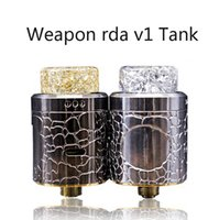Wholesale Diy Weapon - 2017 Latest Weapon rda v1 RDA Vaporizer Tank new Armed Drip oil DIY RDA atomizer Clone 24mm Diameter fit 510 Vape Mods