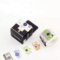 Wholesale Japanese Washi Paper Wholesale - Wholesale- 2016 1pcs 40 mm*10m Big size DIY fita adesiva cartoon Camera Japanese paper washi tape decorative tape School Supplies