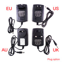 Alimentation 12V pour led bande EU / US / UK / AU adaptateur AC110-220V à DC12V 1A 2A 3A 4A 5A 6A cordon 10A 4 options transformateur de prise UR