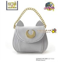 Wholesale Tote Pendant - Wholesale- 2016 New Cute Women Mini Coin Purses Samantha Vega Wallet Sailor Moon Luna Cat Small Bag Love Pendant Free Shipping