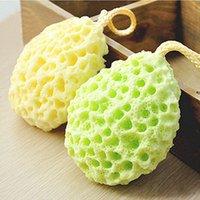 esponja natural bolas venda por atacado-Atacado-1Pcs bola de banho de esponja de banho de esponja de flor natural esfoliante Bath Shower Puffs esponjas para lavar o corpo Scrub limpeza