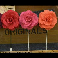 Wholesale Top Quality Brooch flower lapel pin Cloth Brooch Pins For Men For Women Fashion Wedding Party Invitation colors Button Rose Brooch