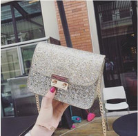 Wholesale Skull Packet Chain Bag - Bag 2017 new chain mini packets female han edition contracted small bread summer joker inclined shoulder bag one shoulder bag