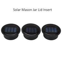 bahçe dekor güneş ışığı toptan satış-1 adet Güneş Mason Kavanoz Kapağı Eklemek-LED Mason Kavanoz Güneş Işık Cam Mason Kavanozlar ve Bahçe Dekor için Güneş Işıkları