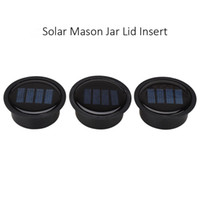 kits de luz de paneles solares al por mayor-1pc Solar Mason Jar Lid Insert - LED Solar Mason Jar Solar Light for Glass Mason Jars and Garden Decor Solar Lights