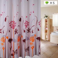 spring shower curtains - Spring And Summer Dandelion Polyester Curtain Thickening Curtain Material Waterproof Mildew Bathroom Curtain Shower Curtain mm