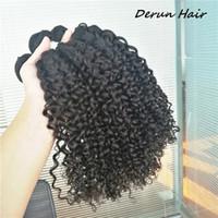 Wholesale jerry curls - Brazilian Malaysian Peruvian Indian Jerry curl virgin human hair 3 bundles hair wefts unprocessed human hair