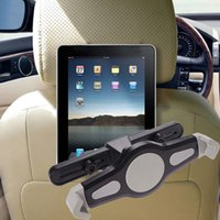 Wholesale Universal Dvd Headrest Mount - Wholesale- 360 Degree Rotation Universal Car Back Seat Headrest Mount Holder Tablet Stand Car Accessories For Tablet GPS DVD