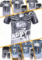 Wholesale Cotton Poplin Fabrics - 2017 summer men's short-sleeved round neck T-shirt shoulder falcon skull prints hot drilling ultra-thin bamboo yarn fabric shirt casual men'