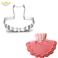 Wholesale Decoration Mousse - Delidge 20 pc Women Dress Cookie Mold Stainless Steel Ballet Skirt Shape Cookie Cutter Cupcake Mousse Ring Decoration Mold