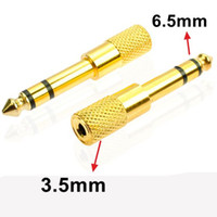 Wholesale stereo plug female for sale - Group buy 10pcs Gold mm quot Male plug to mm quot Female Jack Stereo Headphone Headset Audio Adapter Plug for Microphone