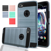 Wholesale Xperia Z1 Tpu - 2 In 1 Brushed Case Hybrid Shockproof Hard PC Cover For MOTO E4 G5 X 2017 C Plus ZTE Zmax pro Tempox N9137 SONY Xperia XA Ultra Z1 OppBag