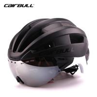 Wholesale Casco Road Helmets - CAIRBULL Triathlon Cycling Helmet Women Men With Sun Visor Ultralight In-mold Road Bike Bicycle Helmet Casco Ciclismo 54-62 CM