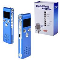 Wholesale Fashion Interviews - Wholesale- Fashion Sk-015 Blue 8G 650hr Digital Audio Voice Recorder Dictaphone Mp3 Player for Interview gravador de voz Meetings Interview