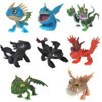 brinquedos de trem grátis venda por atacado-Como Treinar o Seu Dragão Ação PVC Toy Figuras boneca NightFury Dragão desdentado Frete grátis E1743