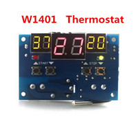 Wholesale 12v Digital Temperature Controller Thermostat - New arrival W1401 digital led display thermostat temperature controller DC 12V thermostat Intelligent With NTC sensor