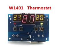 Wholesale Digital Display Thermostat - New arrival W1401 digital led display thermostat temperature controller DC 12V thermostat Intelligent With NTC sensor
