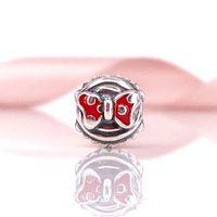 Wholesale Pandora Cupcake - Pandora Charm Silver Beads DIY Jewelry Sterling Silver Minnie Cupcake Charm Authentic Pandora Bracelet & Necklace 791463EN09