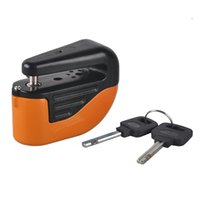 Wholesale Bike Lock Brands - Durable Brand New Mini Alarm Lock Disc Brakes Bicycle Lock Bike Mountain Fixed Anti Theft Security Safety Bicycle Parts 2505027