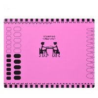 Wholesale stamping mats - Wholesale- 1 Sheet Silicone Stamping Mat 40.5cm*30.5cm Foldable Washable Pad Nail Art Tool For Manicure, 3 Styles For Choose