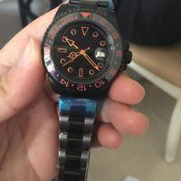 Wholesale Mens Sub Watch - 2017 AAA luxury Automatic Mens bamford Black orange paint Ceramic watch II 116719 Stainless Sapphire original Sub clasp Mens Watches