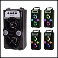 Wholesale Speaker MS BT LED Wireless Bluetooth Portable Speakers with USB TF AUX FM Radio Outdoor Super Bass Black