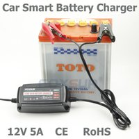 Wholesale Pulse Chargers - Wholesale original 12V 5A 4-stage smart Lead Acid Battery Charger, Car battery charger, pulse charge, Desulfator,100-240V input