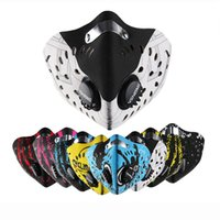 Wholesale Bike Dust Mask - Wholesale- 2017 Cool Cycling Mask Half Face Mask Protective Filter Face Shield Women Men Cycling Bike Dust Sport Training Face Mask Riding