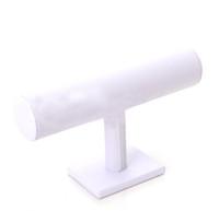 exibir leatherette branco venda por atacado-T-Bar Branco Leatherette Assista Pulseira Jóias Display Stand Titular Rack Para Jóias 1 pçs / lote DS2 * Frete Grátis