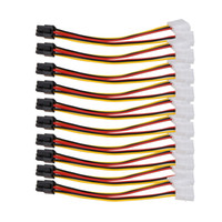 ingrosso connettore cavo molex-All'ingrosso- 10PCS Molex 4 Pin a PCI-E 6 Pin Power Converter Adapter Cable Connector all'ingrosso