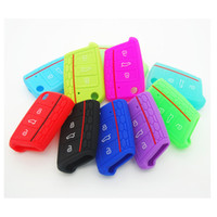 Wholesale Silicone Key Cover For Vw - Car Accessories Key Case Key Cover For Volkswagen VW Golf 7 mk7 Skoda Octavia A7 Silicone Key Portect Case