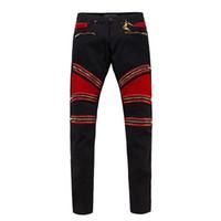 Wholesale Cheap Men Designer Jeans - 2016 Hot Sale Robins Zipper Jeans Black Mens Straight Designer Cheap Robins Jeans Denim Trousers with Wings American Flag Mens Skinny Jeans